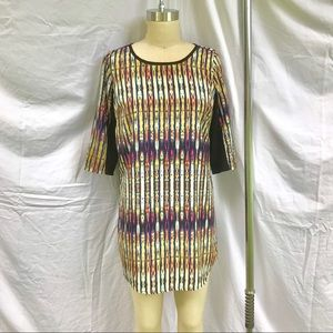 Funky Mini Dress with 3/4 Sleeves